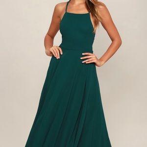 Dresses & Skirts - Laced Back Halter Formal Dress